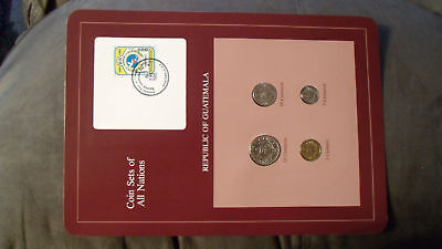 Coin Sets of All Nations Guatemala w/card 4 coins 1983 - 1985 UNC