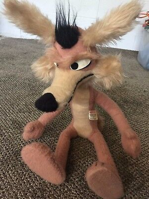 Vintage 1971 By Mighty Star, Warner Bros. Characters Wile E. Coyote Plush 17""