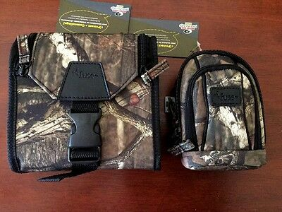 Mossy Oak Binocular Case & Camera  Bag Camo Combo Pack Break Up Infinity Pattern