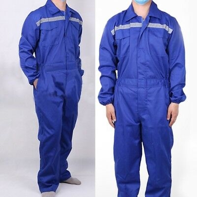 Mens Drill Mechanics Protective Coveralls Overalls Workwear Work Boiler Suit