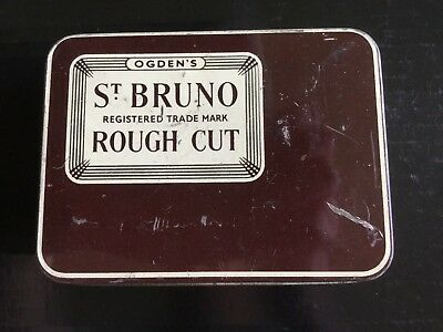 "Ogden's St. Bruno ""Rough Cut "" Tobacco Tin"