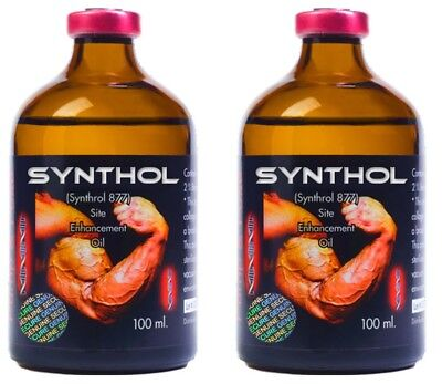 Synthol Pump-N-Pose Muscle Mass Bodybuilding Posing Oil 2 Pack 200Ml. Authentic
