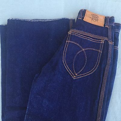 Vintage Womens Blue Denim Jeans Union Gap 25X37 Boot Cut Wide Leg Made Hong Kong