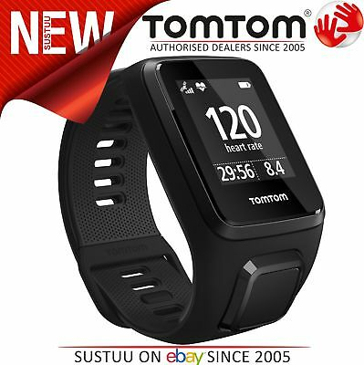 TomTom Spark 3 Multi Sport GPS Cardio Fitness Watch with HR Monitor-Black Large