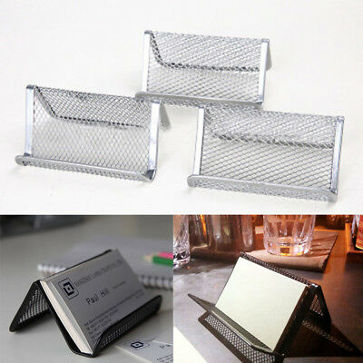 Metal Wire Business Card Stand Holder Rust Prevention Office Desk Supplies Hot
