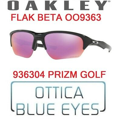 8fd9325681 Occhiali da Sole OAKLEY SUNGLASSES OO9363 936304 FLAK BETA PRIZM GOLF BLACK  NEW
