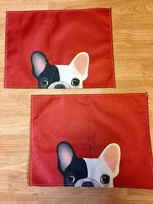 Black And White French Bulldog Placemats