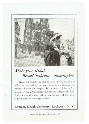 Orig. 1921 Full-Page Magazine Ad, Eastman Kodak Company, Very Nice, 7 x 10 in.