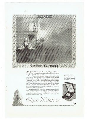Orig. 1921 Full-Page Magazine Ad, Elgin Watches, Very Good Condition, 7 x 10 in.