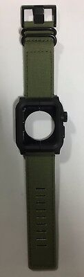 LUNATIK EPIK Case and Canvas Band for Apple Watch 42mm Green EPIK-021 series 1