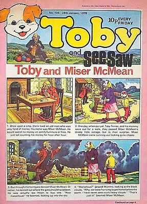 TOBY & SEE-SAW - 28th JANUARY 1978 (27 Jan - 2 Feb) RARE 40th BIRTHDAY GIFT..VG+