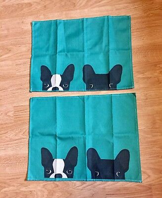 Black French Bulldog And Boston Terrier Placemats