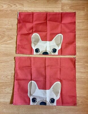 French Bulldog Red Placemats