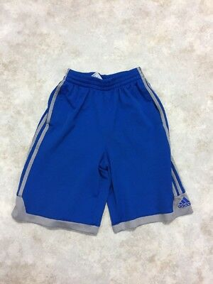 Adidas Boys Blue/Gray Polyester Athletic Shorts Sz M 10/12