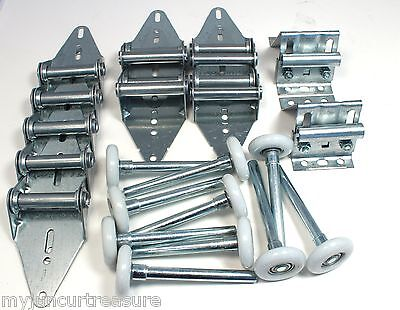 Garage Door Hinge and Roller Tune up Kit 9X7 or 8X7 with Bottom Brackets
