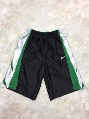 Nike Boys Black/Green Athletic Shorts w/ Drawstring Sz M