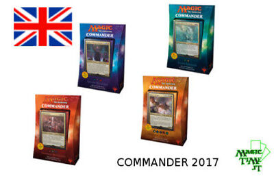 Commander 2017 Full Set mtg 4 Mazzi-Decks MAGIC Draghi Vampiri Felini Maghi eng