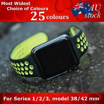 For Apple Watch Replacement Silicone Nike Sports Band Series 3/2/1 - New Design!