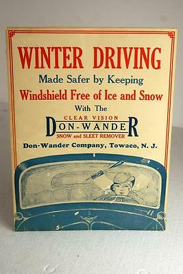 1930's Don Wander Snow And Sleet Removal Tool Ad Advertisement Cardboard