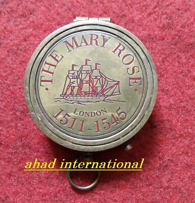 Solid-Brass-Compass-Maritime-Vintage London-Marine-Working compass