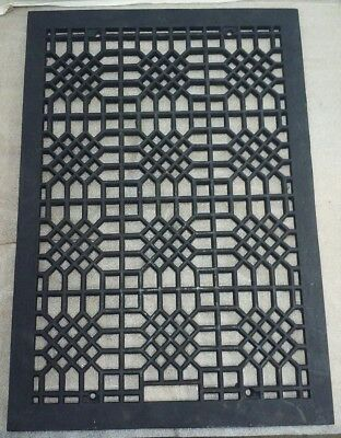Antique Victorian Cast-Iron Floor Grate over all 26 1/4x18 hole size 24x16