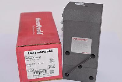 NEW Burndy M-434 2/0 STR Run & Tap Mold, CC-4 ThermOWeld