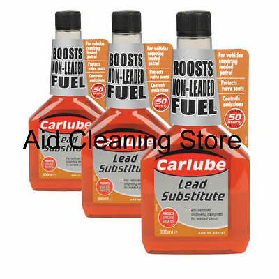 3x LEAD - OCTANE BOOSTER FUEL ADDITIVE PETROL ENGINES 300ml IMPROVES PERFORMANCE