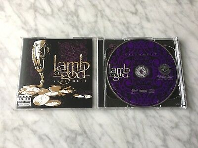 Lamb of God Sacrament 2 CD/DVD Original 2006 Epic Randy Blythe OOP! RARE! NM