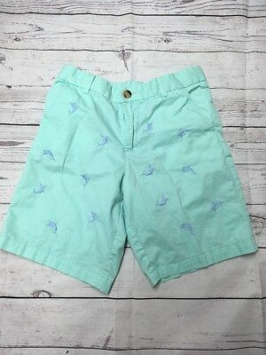 J. K Boys Embroidered Fish Shorts Sized 10-12