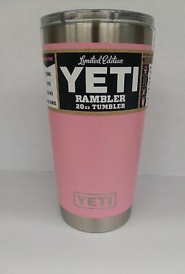 fa1e9e1e244 YETI PINK RAMBLER 20 oz Tumbler insulated Stainless Steel Cup w/ lid ...