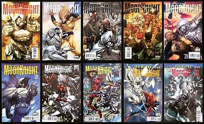 Vengeance of the Moon Knight #1 2 3 4 5 6 9 10.  Campbell / Mattina covers.