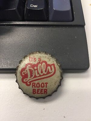 Dilly root beer soda bottle cap unused cork lined