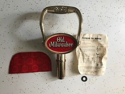 "New Vintage Rare Old Milwaukee Pull Handle Beer Tap 8"" Tall Gear Shift Knob"