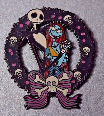 Disney Nightmare Before Christmas Jack And Sally Halloween Wreath Pin 2006