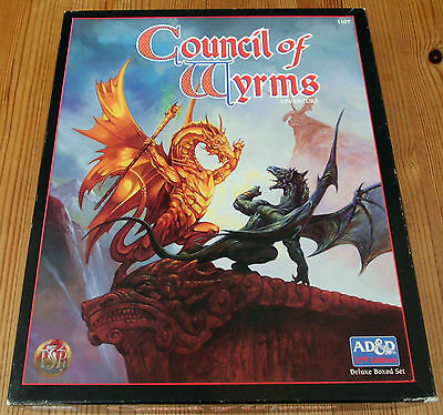 AD&D - Council of Wyrms (Deluxe Boxed Set komplett)