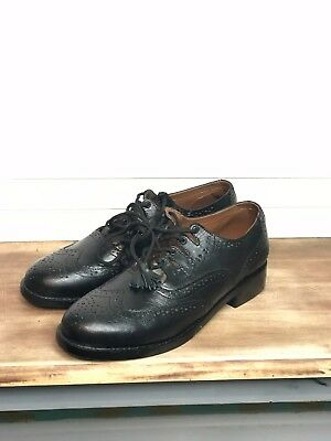 """Genuine Leather"" Black Ghillie Brogues - Scottish Shoes- Size 13 (or 11.5)"