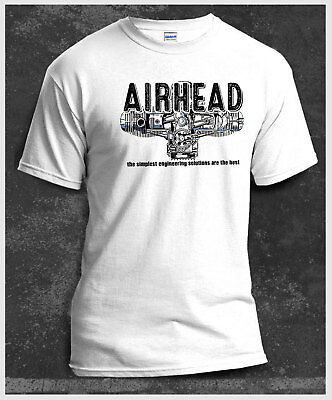 Airhead Boxer engine BMW R1200GS RT 1200 Motorcycle White T-Shirt