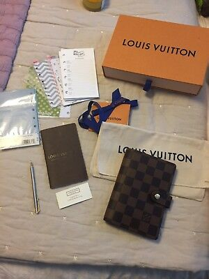 Authentic Louis Vuitton Damier Ebene Agenda PM ~2017 ++