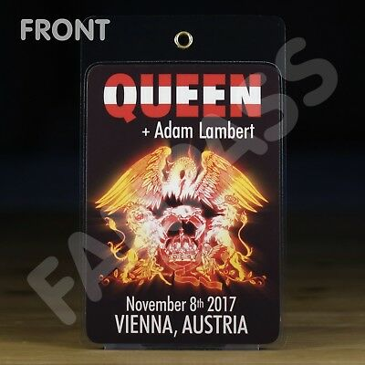 QUEEN + ADAM LAMBERT 2017 FAN-PASS! CUSTOMIZED FOR ANY SHOW! WIEN, MÜNCHEN, etc.
