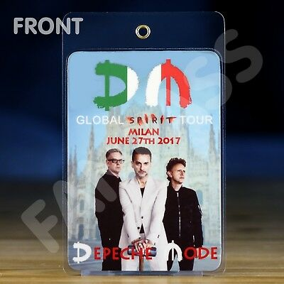 Depeche Mode - Global Spirit Tour Laminated Fan-Pass! Customized For Your Show!