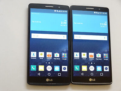 Lot of 2 LG G Vista 2 H740 AT&T 16GB Smartphones AS-IS GSM