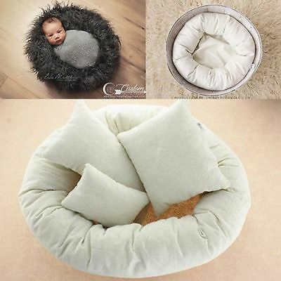 4Pcs Newborn Photography Props, Round Shape Pillows
