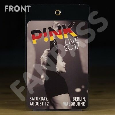 P!nk - Live In Berlin 2017 - Laminated Fan-Pass! Customized For Your Show!