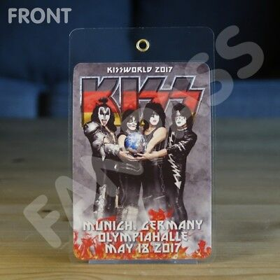 Kiss Kissworld 2017 Tour Laminated Fan-Pass! Customized For Your Show!