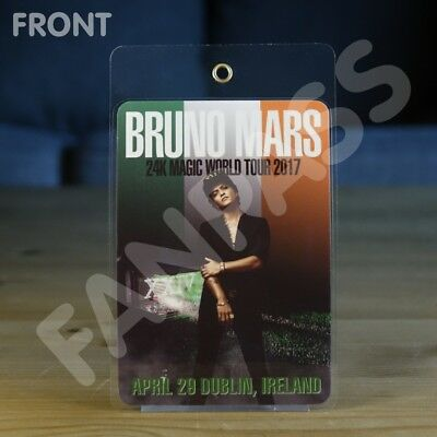 Bruno Mars - 24K Magic Tour - Laminated Fan-Pass! Customized For Your Show!