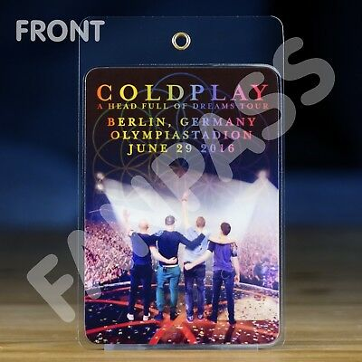 Coldplay A Head Full Of Dreams Tour 2016/17 Fan-Pass! Customized For Your Show!
