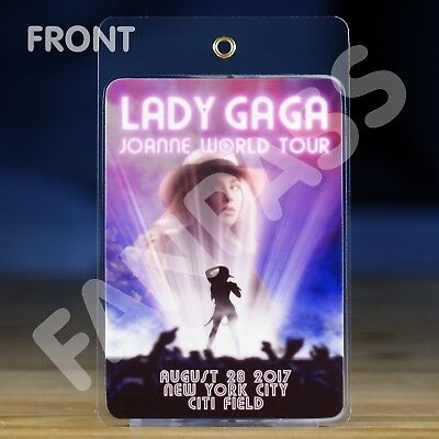 Lady Gaga - Joanne World Tour - Laminated Fan-Pass! Customized For Your Show!