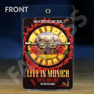 Guns 'n Roses Not In This Lifetime Tour 16/17 Fan Pass! Customized For Your Show