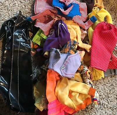 Lot of Vintage 1970s Barbie / Francie / Friends & Other Doll Clothes - Needs TLC