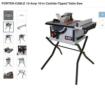 Porter cable carbide tipped table saw 15 amp 10 in adjustable porter cable 15 amp 10 in carbide tipped table saw keyboard keysfo Image collections